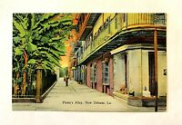 """NEW ORLEANS, LA  """"Pirate's Alley, """" Vintage 1930-45 LINEN Postcard 216"""