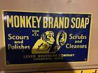 Monkey Brand Sosp Pircelain Sign