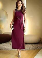 BPC @ Kaleidoscope Size M 14 16 Mulberry Studded Evening DRESS Flattering £50