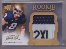 2011 UD Exquisite Kyle Rudolph On Card Auto Jersey Tag Patch Rc Serial # to 135