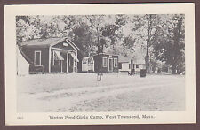 Vinton Pond Girls Camp West Townsend Massachusetts c1930 Postcard