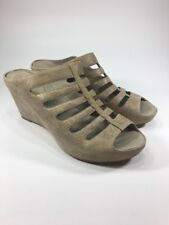 Johnston Murphy New $198 Women's Tess Size 8.5 M Gold Wedge Suede Sandals