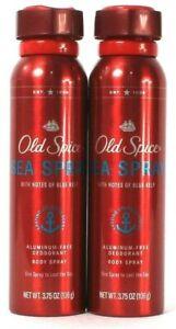 (2 Ct) Old Spice Sea Spray With Notes Of Blue Kelp Deodorant Body Spray 3.75 Oz