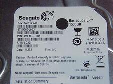 1,5 TB Seagate ST1500DL003 / 9VT16L-301 / CC32 / WU / 100617465 - disco rigido