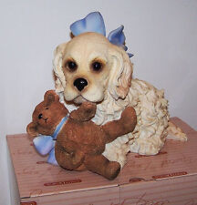 """Classic Critters """"Cocker Puppy"""" Spaniel Dog Breed Large Collectible Figurine New"""