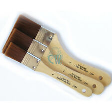 Set of 3 Royal Large Stiff Taklon Brushes. Artists Acrylic,Oil Paint & Varnish
