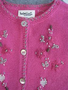 Bestickte Strick Jacke 38 pink IsabellaG by Geiger 38 Baumwolle