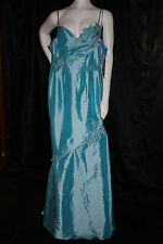MAGGIE SOTTERO FLIRT  FORMAL GOWN TURQUOISE DRESS SIZE 0 CRUISE PROM PAGEANT NWT