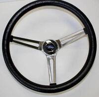 "Bronco F100 F150 F250 F350 Grant Black Steering Wheel 15"" w/ Horn & Install Kit"