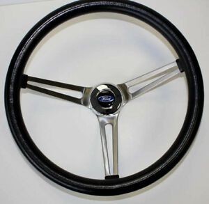 "70-77 Ford F100 F150 F250 F350 Grant Black Steering Wheel 15"" 75-77 Bronco"