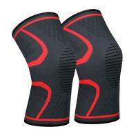 2pcs Lonew Compression Knee Sleeve Brace Pain Relief Running Joint Arthritis