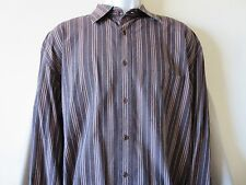 Faconnable Mens Brown Button Down Designed in France Size Extra Large XL