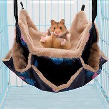 Hanging Hamster Bed Hammock Cage Pet Rat House Bird Ferret Squirrel Nest Toys