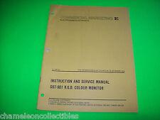 Electrohome Original Go7-901 Rgb Colour Tv Monitor Service Manual Dec 1979