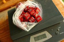 170 grams red 18 mm  cubes  Genuine BAKELITE made  USA 1950's  NO CRACKS!