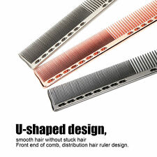 3pcs Space Aluminum Comb Set Anti Static Wide Fine Tooth Brush Hairdressing Tool