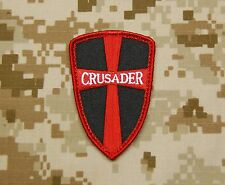 Crusader Cross Shield Navy SEAL DEVGRU Tactical Black Red  Patch Afghan VELCRO®