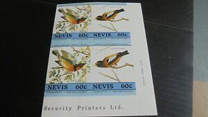 NEVIS BIRDS IMPERF MNH (A)