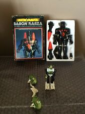 Vintage 1977 Mego Micronauts BARON KARZA W/ Box And Yellow Acroyear Not Complete