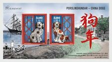 Aland 2018 2017 chinese china year DOG CHIEN HUNDE PERROS CANIS CANE ms2v mnh **