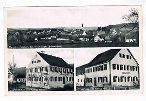 AK. Memmenhausen,Krumbach Gasthof von Georg Fendt. Feldpost SCHWABMÜNCHEN 1942