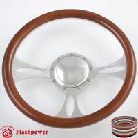 "1965-1969 Ford Thunderbird Torino steering wheel 15/"" DARK MAHOGANY WOOD"