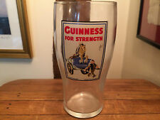 Guinness For Strength Unusual collectors pint glass Man Cave Pub Home Bar