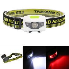 Bright LED Mini Headlamp Headlight Fishing Flashlight Torch Red Flash Light