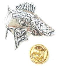Lucioperca/Walleye Pesce Fatto artigianalmente da Peltro Inglese nel Regno Unito