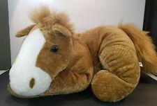 "Aurora A & A Plush Horse Stuffed Animal Large Floppy Tan Pony 25"""