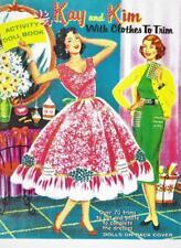 Vintage Uncut 1950's Kim & Kay Paper Dolls~#1 Reproduction~w/Extra Bonus Covers!
