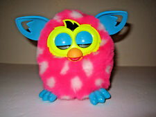 2012 HASBRO FURBY- BOOM- PINK w/ WHITE POLKA DOTS BLUE EARS- TESTED & WORKING