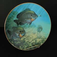 Mark Susinno Sun Dancers Collectible Plate 1990 The Angler's Prize Fish Fishing