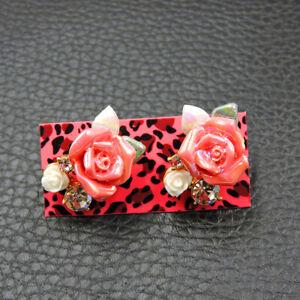 Betsey Johnson New Fashion Rare Alloy Rhinestone Flower stud Earrings Jewelry