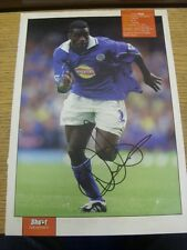 90-2000's Autographed Magazine Picture A4: Leicester City - Akinbiyi, Ade. We tr