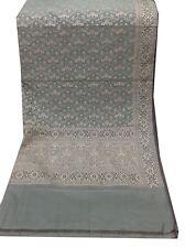 Om Vintage Dupatta 100 % Silk Thread Woven Green Scarves Stole Hijab AD-2137