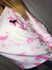 Victoria Secret Pink Tie Dye Slouchy Oversized Graphic Crew Pullover Sweatshirt