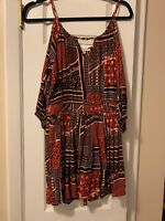 american eagle outfitters dress regular small, multi color patterned dress, cut