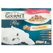 Gourmet Perle Variety Beef And Chicken 12 x 85g - Wet Cat Food Various Flavours