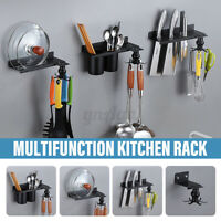 Wall Hanging Storage Shelf Rack Holder Organizer Kitchen Dishes Pot Lid Rack