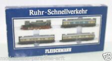 """Fleischmann Piccolo 7887 Zugset """"Ruhr-Schnellverkehr"""" beleuchtet in OVP(JL7275)"""
