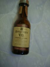 1970 Seagram's VO Canadian Whisky 10th Pint Brown Glass Mini Bottle/Empty