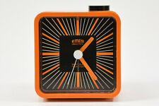 EMES SONOLUX alter Wecker orange Retro Vintage Uhr 71-7702-81 NEU NOS; K71 73