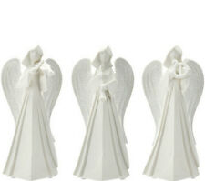 QVC Kringle Express Set of 3 Porcelain Angels with Musical Instruments