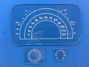 1937 Buick Speedometer ,clock and radio glasses.