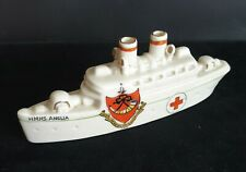 More details for ww-i her majesty's hospital ship 'anglia' by carlton china bearing ripon crest