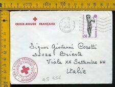 Francia France cover to Italy as 656 croce rossa