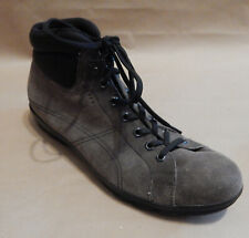 Prada, Men Boots, Suede, Gray, 9 US/ 43 EU/ 8 UK