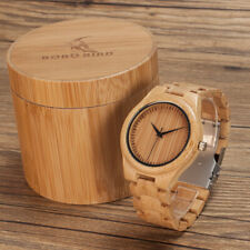 Bobo Bird Original Official Store Watch Natural Bamboo Wood Watch Male Men Watch
