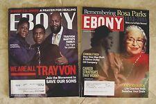 2 Ebony Magazines Jan 2006 Rosa Parks Civil Rights Sept 2013 Trayvon Magazine